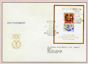 DDR FDC Bl. 28 MiNr. 1507 20 Jahre DDR