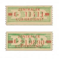 DDR Dienstmarken B, MiNr. 30I+30II ** Type I u. II