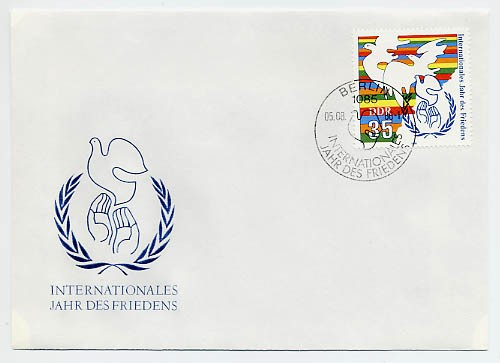 DDR FDC MiNr. 3036 Int. Jahr des Friedens