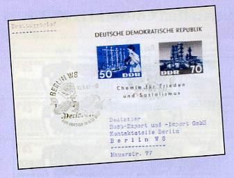 DDR FDC Bl.18 MiNr. 950/51 Chemie