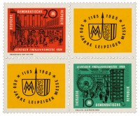 DDR MiNr. 1012/13 ** Zdr. LFM 1964