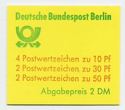 Berlin MH 11db ** Burgen und Schlösser 1980
