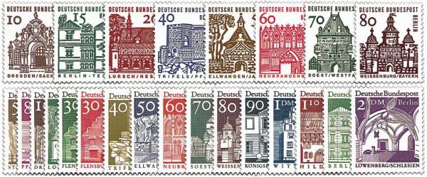 Berlin MiNr. 242/49 + 270/85 ** FM: Deutsche Bauwerke I + II