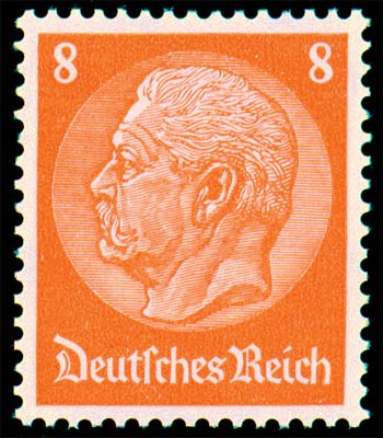 """Dt. Reich MiNr. 485 I ** FM Hindenburg-Medaillon mit PF """"offenes D"""""""