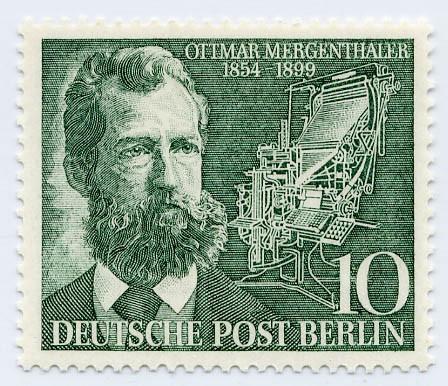Berlin MiNr. 117 ** 100. Geb. v.Ottmar Mergenthaler