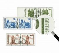 "DDR MiNr. 3344, 3345, 3347 o Plattenfehler-Studie ""Bauwerke u. Denkmäler"""
