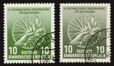 """DDR Mi.-Nr. 521 o im Set - """"Farbe a + b"""""""