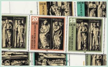DDR Zdr.-Kombinat. MiNr. 2808/11 ** Naumburger Dom ( WZd 568 - 575, SZd 258 -265)