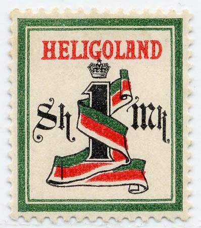 Helgoland MiNr. 19Ab ** 1M/ 1Sh dkl.grün/schwarz/karmin