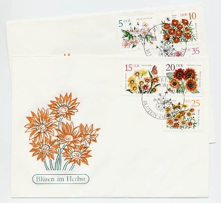 DDR FDC MiNr. 2737/42 Herbstblumen