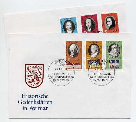 DDR FDC MiNr. 1856/61 Gedenkstätten in Weimar