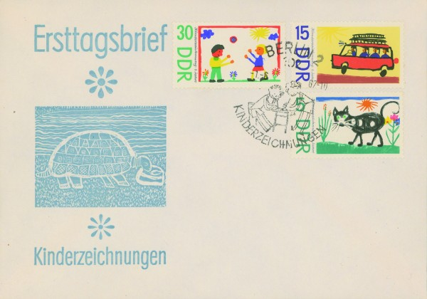 DDR FDC MiNr. 1280/85 Kinderzeichnungen