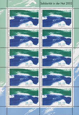 BRD MiNr. 2278 C ** Kleinbogen Hochwasserhilfe 2002, enge Zähnung