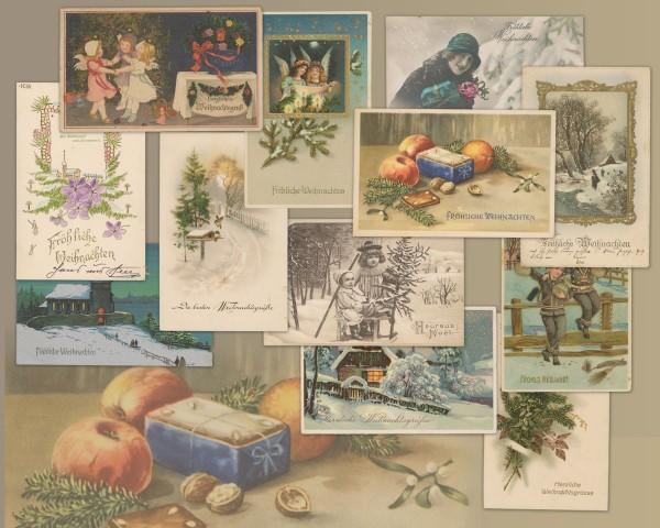 Ansichtskarten-Set Weihnachten/Neujahr