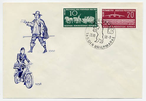 DDR FDC MiNr. 660/61 Tag d. Briefmarke