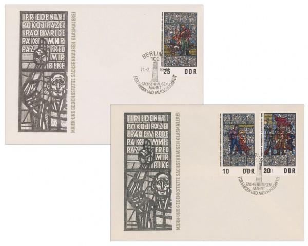 DDR FDC MiNr. 1346/48 Glasmalerei