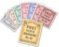 Dt. Reich Dienst MiNr. 1/8 ** Zähldienstmarken für Preußen