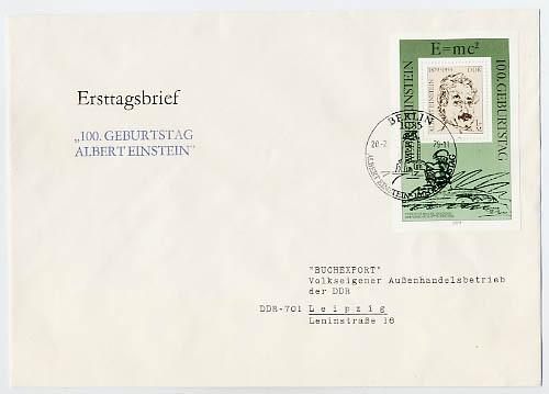 DDR FDC Bl.54 MiNr. 2402 A. Einstein