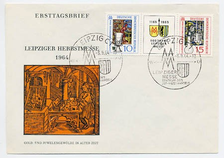 DDR FDC MiNr. 1052/53 Zdr. LHM 1964