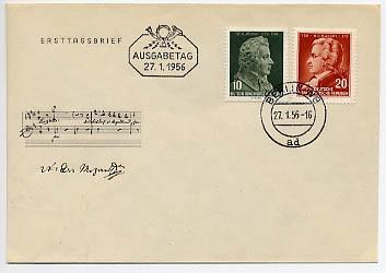 DDR FDC MiNr. 510/11 Mozart