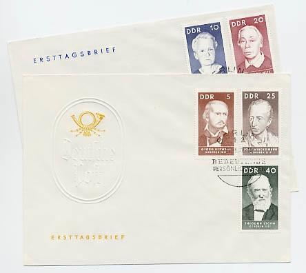 DDR FDC MiNr. 1293/97 Berühmte Persönlichkeiten (I)