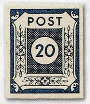 """SBZ Ost-Sa. MiNr. 53/55 ** Ziffernserie """"POST"""" dünnere Buchstaben"""