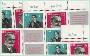 DDR Zdr.-Kombinat. MiNr. 893/94 ** Dimitrow (WZd 28 - 33)