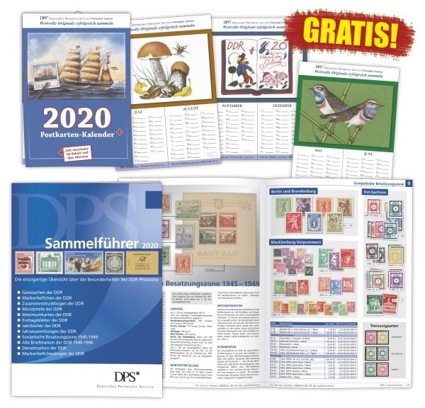 Gratis Sammellführer und Postkartenkalender 2020