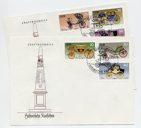 DDR FDC MiNr. 2147/52 Histor. Kutschen