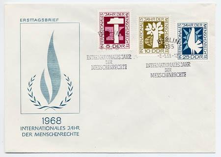 DDR FDC MiNr. 1368/70 Menschenrechte