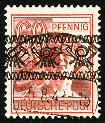 Bizone MiNr. 49Ia o All. BPP gepr. Schlegel Posthorn-Band auf II.Kontrollratsausgabe