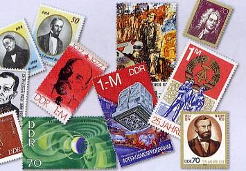 DDR 50 Einzelmarken aus Blocks **