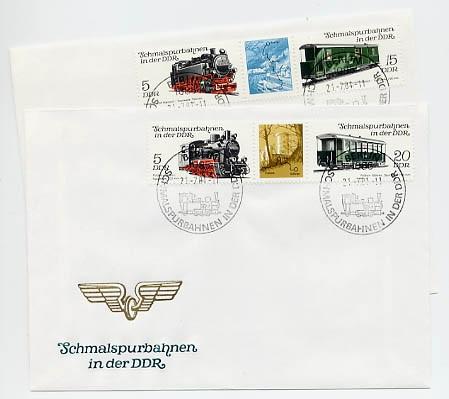 DDR FDC MiNr. 2629/32 Zdr. Schmalspurbahnen (II)