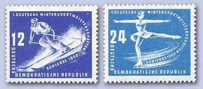 DDR MiNr. 246/47 ** Wintersportmeisterschaften Schierke