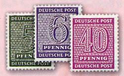 SBZ West-Sa. MiNr. 126/37 Y ** (11 Werte) Freimarken Ziffern