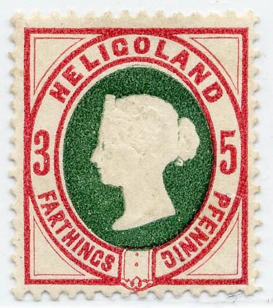 Helgoland MiNr. 13c * 3Pf-5F /karmin/grün - nicht verausgabt!