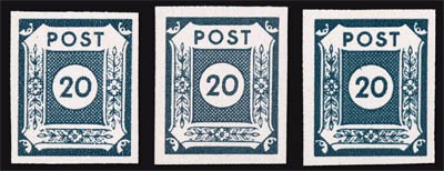 SBZ Ost-Sa. MiNr. 48 ** 20 Pf,Farbe a, b, c Farbe b geprüft Ströh