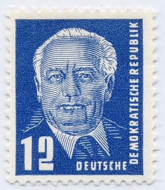 DDR MiNr. 251 b ** 12 Pf - gepr., Freim. Pieck