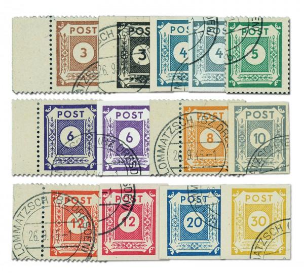 SBZ Ost-Sa. MiNr. 51-63 o Set-Ziffernserie 13 Werte