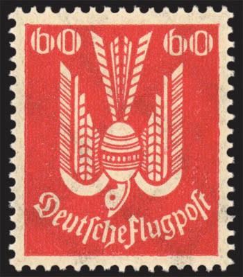 """Dt. Reich MiNr. 213 b ** gepr. """"Holztaube"""""""