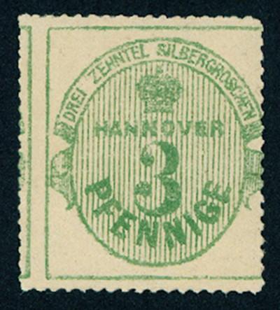Hannover MiNr. 21x ** Wertangabe und Krone im Oval