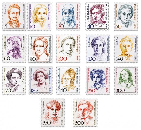 Berliner Freimarken ** 17 Werte Frauen der deutschen Geschichte