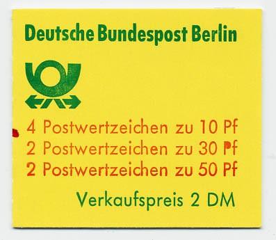 Berlin MH 10bb** mZ / Burgen u.Schlösser 1977 mit Zählbalken