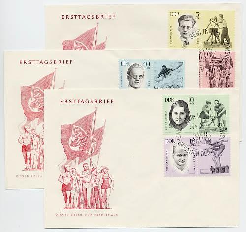 DDR FDC MiNr. 983/87 Antifasch. Sportler