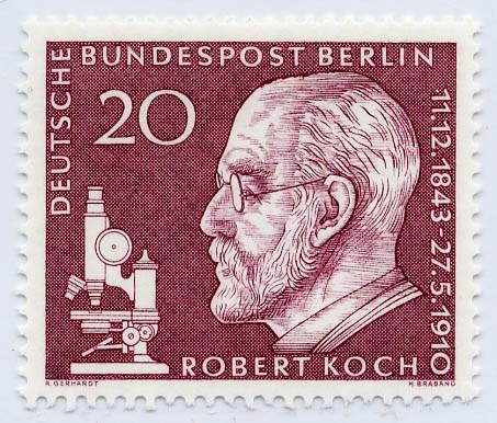 Berlin MiNr. 191** 50. Tdstg. Robert Koch