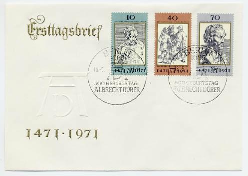 DDR FDC MiNr. 1672/74 500. Geb. Dürers