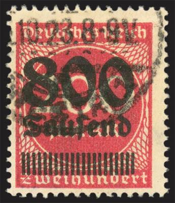 Dt. Reich MiNr. 303A o gepr. Infla 800 Tsd aus 200 M