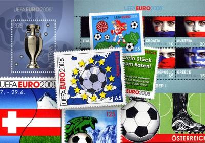 Österreich Die offiziellen EM-Briefmarken ** (21 Briefmarken-Ausgaben)