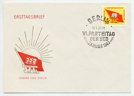 DDR FDC MiNr. 941 6. Parteitag d. SED