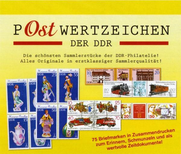 P-Ostwertzeichen der DDR 75 Marken in Zusammendrucken